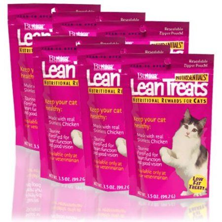 Lean Treats for Cats 6 pack (3.5 ounce pouches), Multicolor