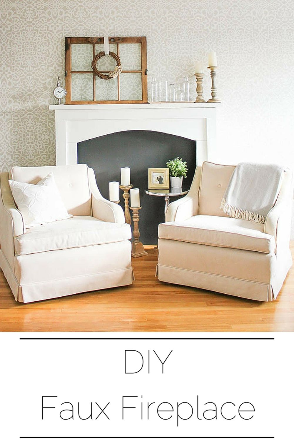 Diy faux fireplace mantel diy faux fireplace faux fireplace and