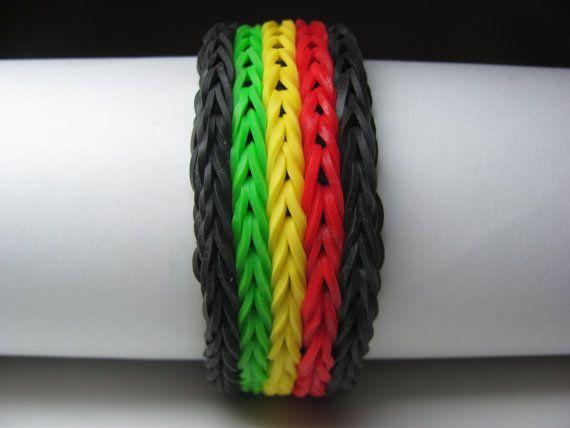 5 row fishtail Rainbow Loom Rubber Band Bracelet