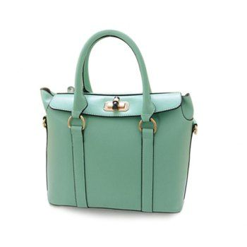 New Arrival Casual Candy Color and PU Leather Design Tote Bag For Women