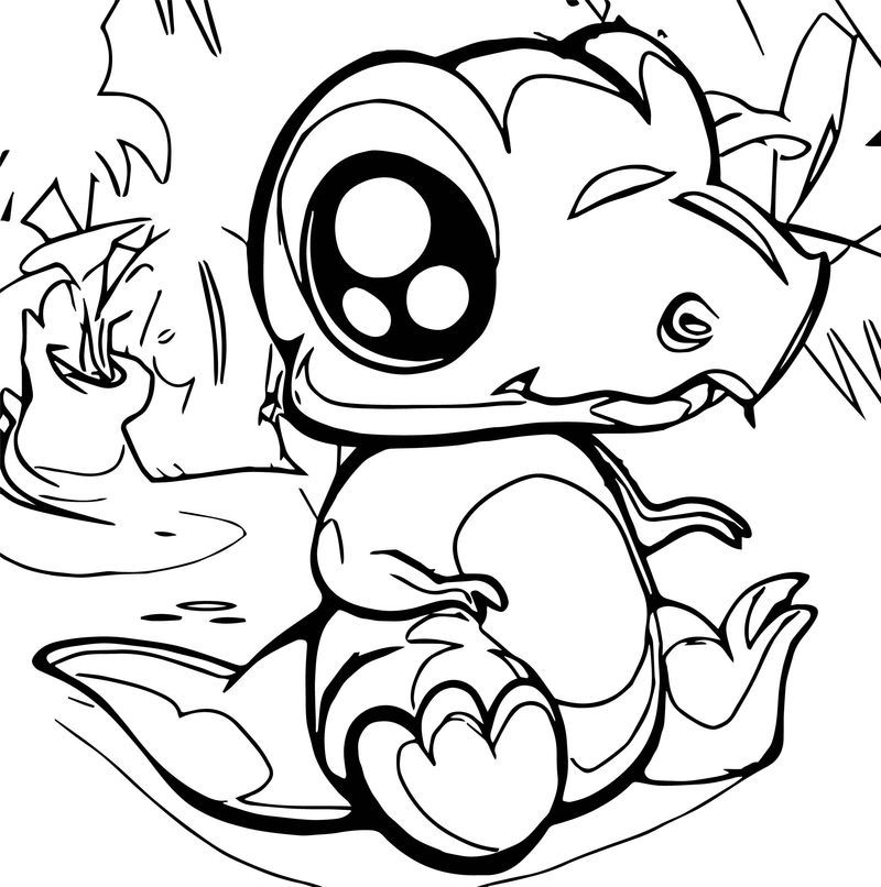 How To Draw A Cute Dinosaur Coloring Page. Also see ...