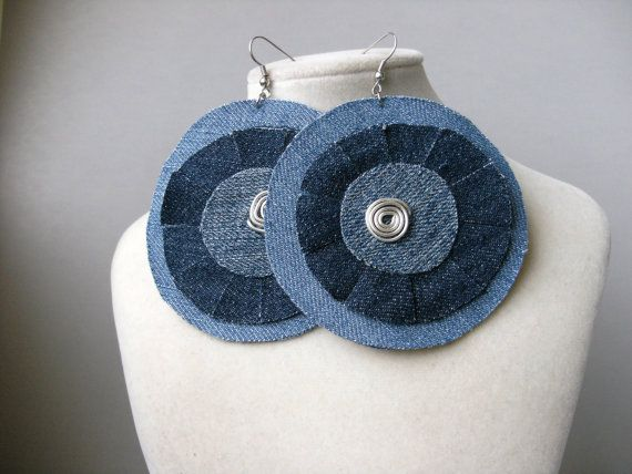 Fülbevaló - Denim earrings