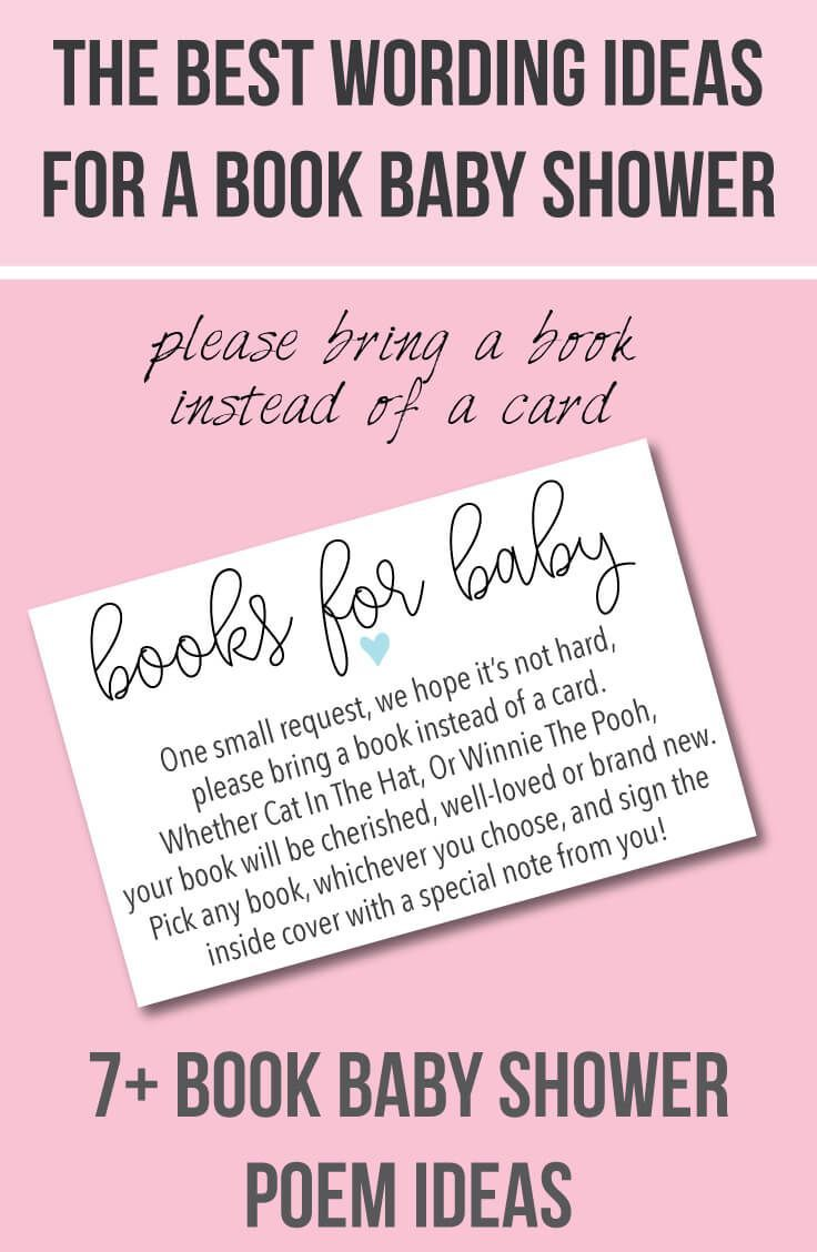 7 wording ideas for a books for baby please bring a book 7 wording ideas for a books for baby please bring a book instead of a card baby shower printable book baby shower invitation insert too filmwisefo Image collections