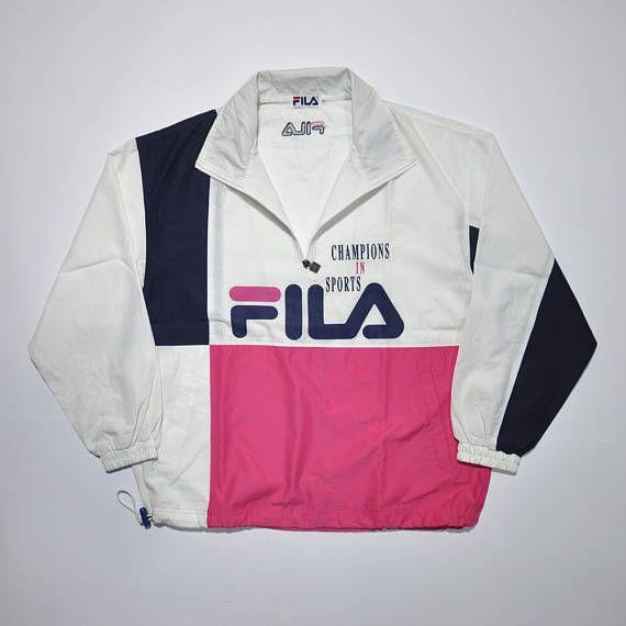 Americana Vintage   Hippie market ( THRIFT ) FILA 90s Pullover - americana sportswear