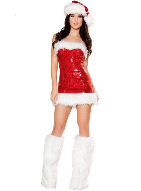 7298868c604fe Miss Candy Cane Sexy Christmas Costume for Women - Favorbuying.com ...