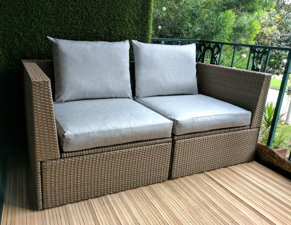 Ikea Arholma Slip Cover Ikea Cushion Covers By Rockincushions Patio Furniture Cushions Ikea Garden Furniture Ikea Patio
