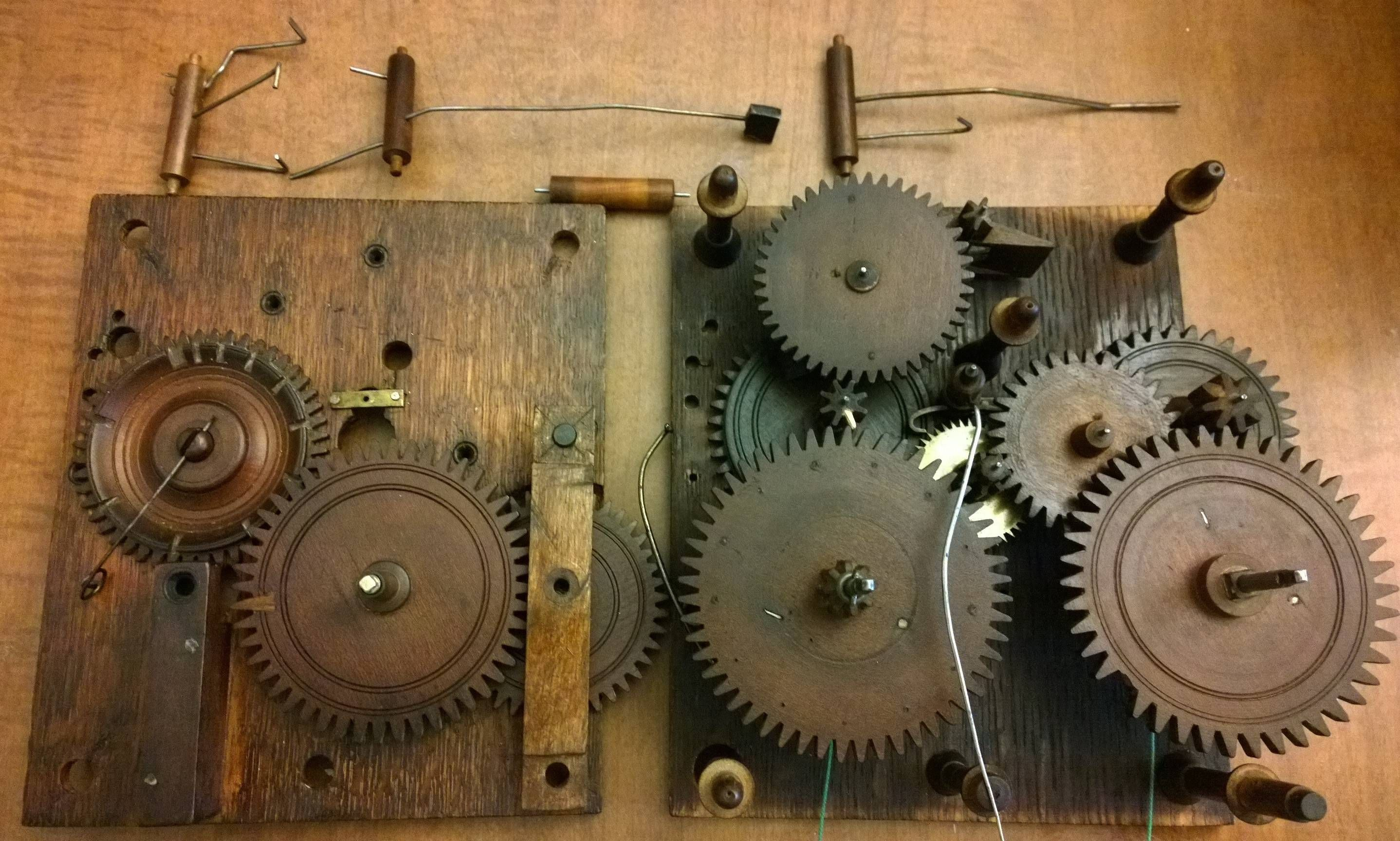 Wooden Gears From A 100 Year Old Clock I M Restoring Imgur Wooden Gear Clock Wooden Gears Old Clocks