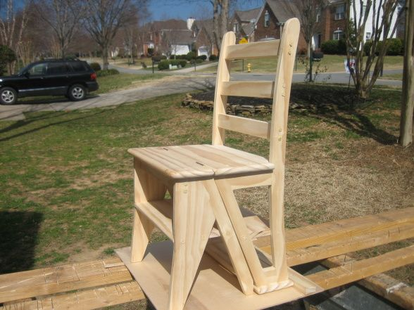 Franklin Library Chair, Heres A Handy Little Chair That Turns Into A Step  Stool,