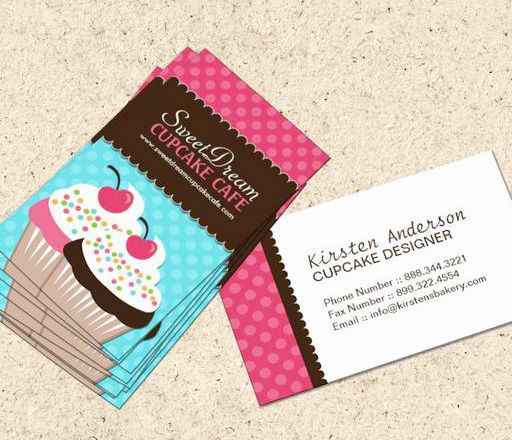 Cute and whimsical cupcake bakery business cards this great business cute and whimsical cupcake bakery business cards this great business card design wajeb Images