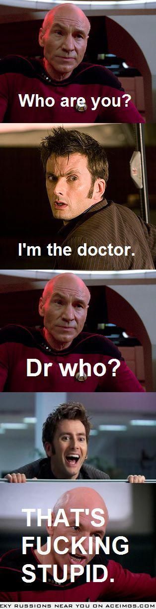 I like Star Trek, she's never watched it. She likes Dr. Who, I've never watched it. We're fighting over which is better.