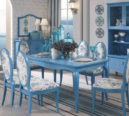 blue dining room furniture 1000 images about painting table inspirations on pinterest a