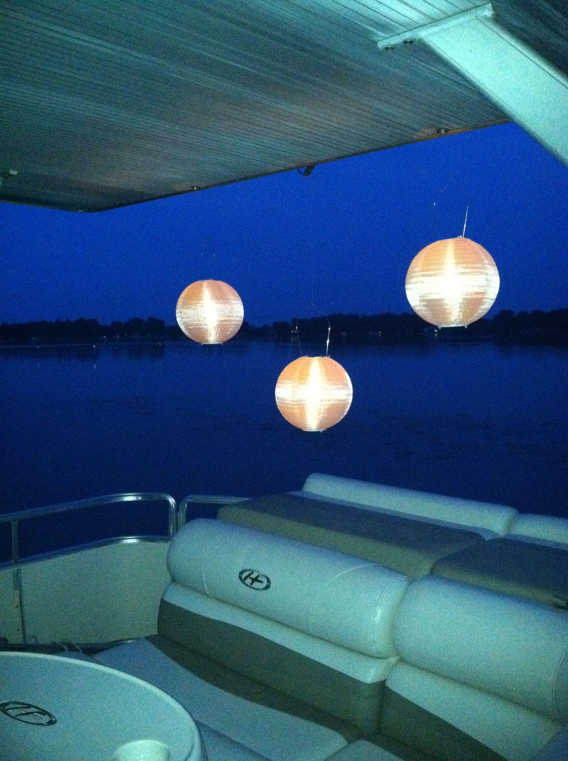 Solar Lights Pontoon Boat Accessories Pontoon Boat Party Lake Boat