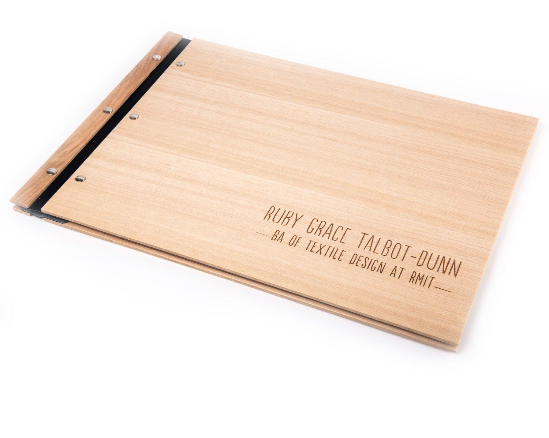 Portfolio 11x17 A3 Folder Graduation Gift Student Portfolio Custom Wood Portfolio Custom Wood Portfolio Large Guest Book