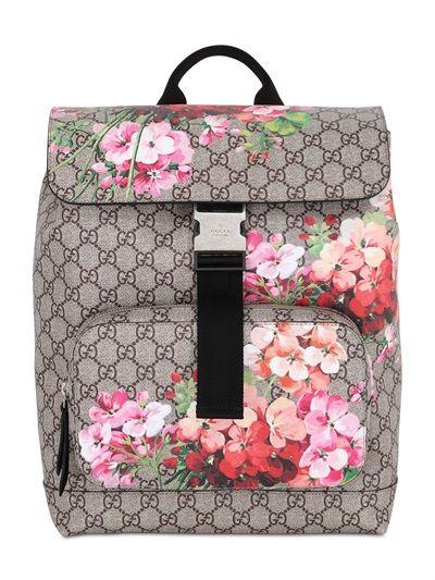 8df7fc0fd588 Lo zaino Gucci | Fashion | Canvas backpack, Bags, Printed bags