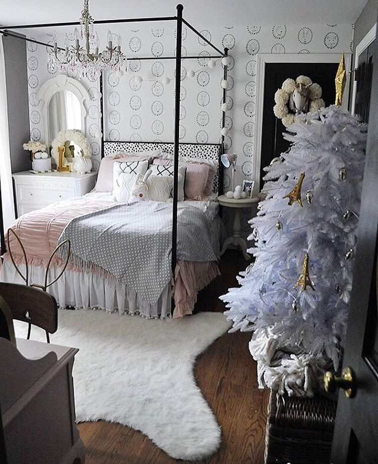 All Photos Are Ours Unless Otherwise Noted Visit Our Blog For Detailed Source Info And Paint Colors Of Our Spaces Stylish Bedroom Dear Lillie Christmas Room Lillie and lola christmas rooms