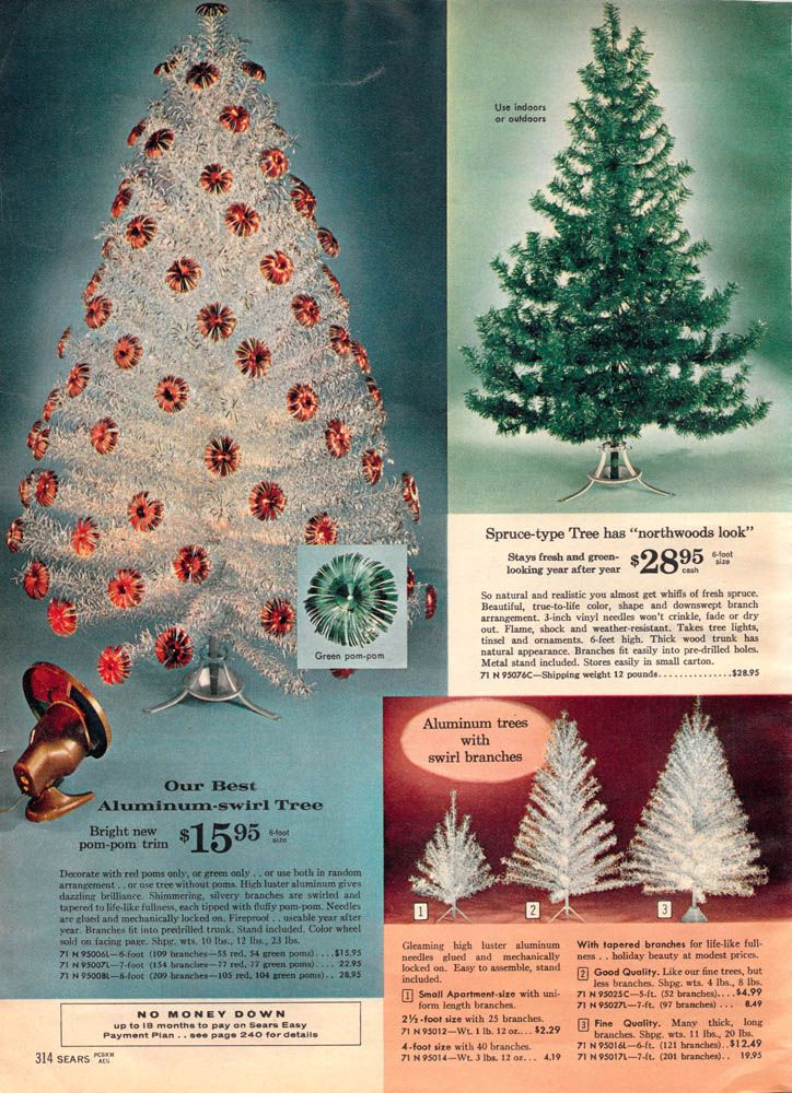 1962 Sears Catalog Aluminum Christmas Tree - Artificial Christmas Trees! A Vintage Catalog Extravaganza Kris