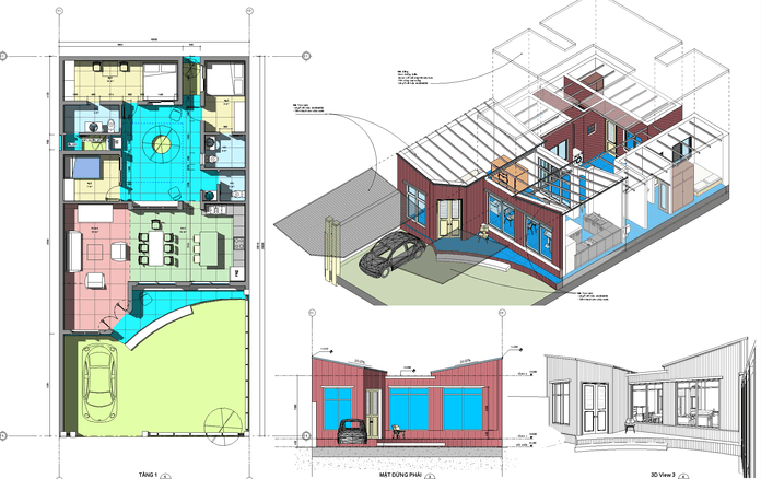 Free Revit Model available for House 10x20m plan  Download
