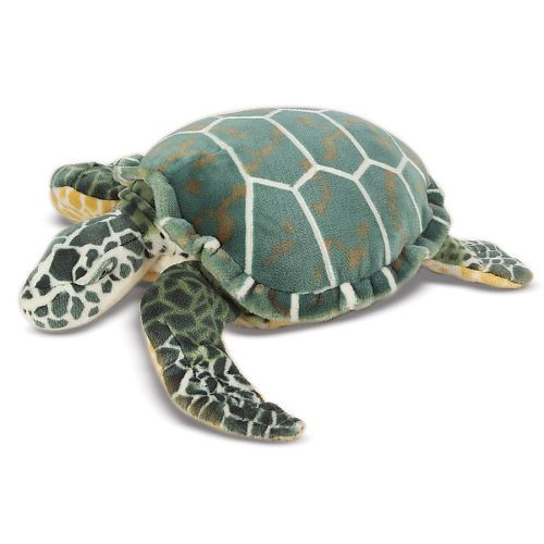 Melissa Doug Lifelike And Lovable Plush Giant Sea Turtle Melissa