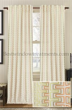 Avalon Beach Drapery Curtain Panel In 100 Natural Cotton Linen Blend With Premium Lining Standard Size 96 Inch Length Curtains Or Extra Long 108
