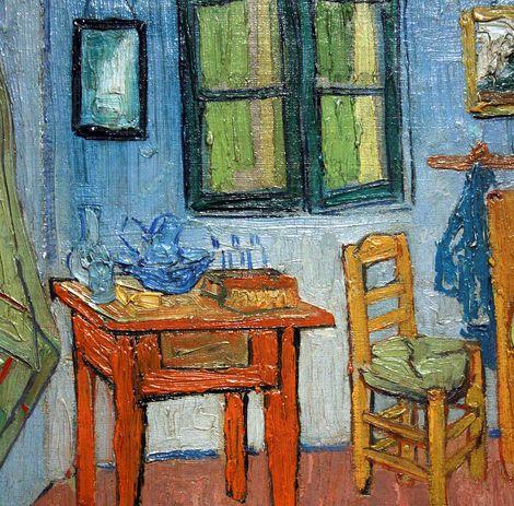 Bedroom in Arles (detail), Vincent van Gogh, 1888. | Artists ...
