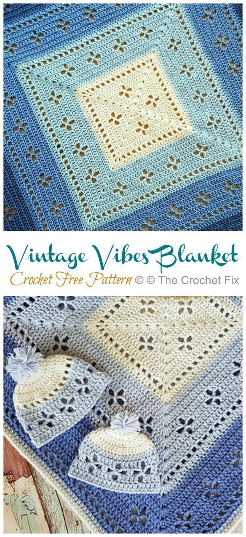Photo of Vintage Vibes Blanket Crochet Free Pattern – Häkeln und Stricken – – #Blanket …
