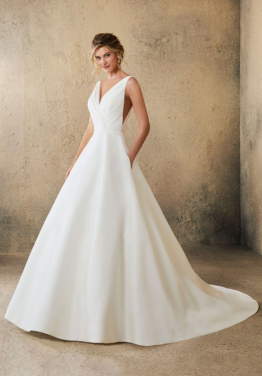 Outdoor Wedding Dresses Casual With Round Neckline And Satin Fabric 700 933 Casual Informal Wedding Dresses Casual Wedding Dress Simple Wedding Dress Casual
