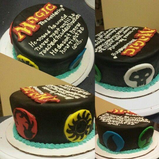 Magic The Gathering Grooms Cake Grooms Cake Cake Magic The