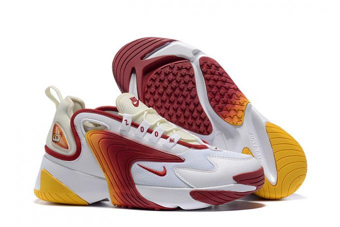 Solicitante Ejército diapositiva  Buy Mens Nike Zoom 2K White Red-Yellow Shoes-5 | Nike, Sneakers, Yellow  shoes