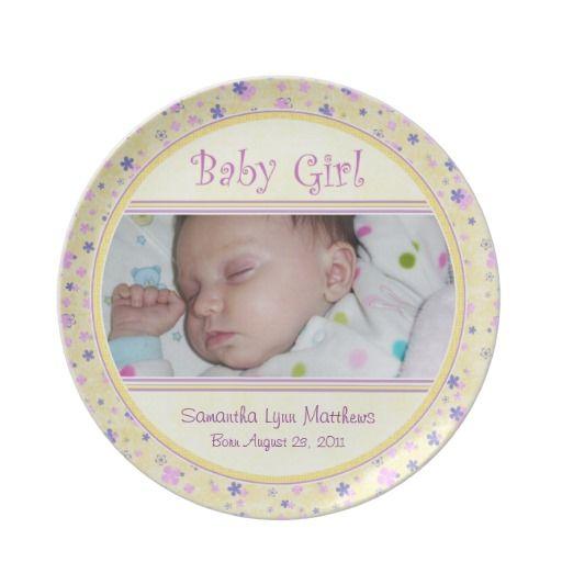 Baby girl newborn keepsake custom photo plate custom plate baby girl newborn keepsake custom photo plate custom plate newborn mom negle Image collections