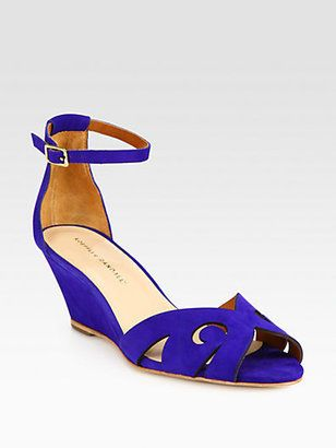 Loeffler Randall Amelie Suede Wedge Sandals