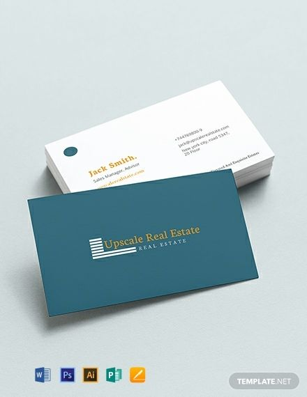 Real Estate Property Business Card in 2020   Business card ...
