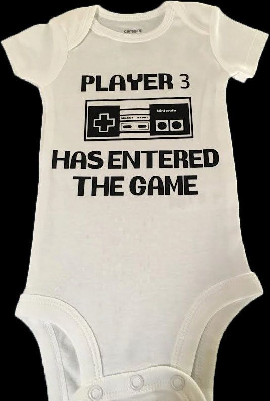 aad09d3d08c Player 3 Has Entered the Game, Funny Baby Clothes, Video Game Baby ...
