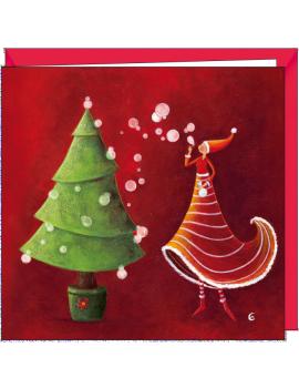 Carte Postale Noel Et Jour De L An Marie Cardouat Art De Noel Aquarelle Noel