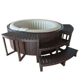 Habillage composite pour spa gonflable 4 places - Habillage tour de piscine ...