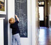 Muursticker Kalkbord / Krijtbord Sticker / Schoolbord Sticker 45 x 200 CM - Voor Kinderen - Inclusief 5 Schoolbordkrijtjes! - Krijtbord / Stift / Krijstift /  Krijtsticker / Schoolbordsticker