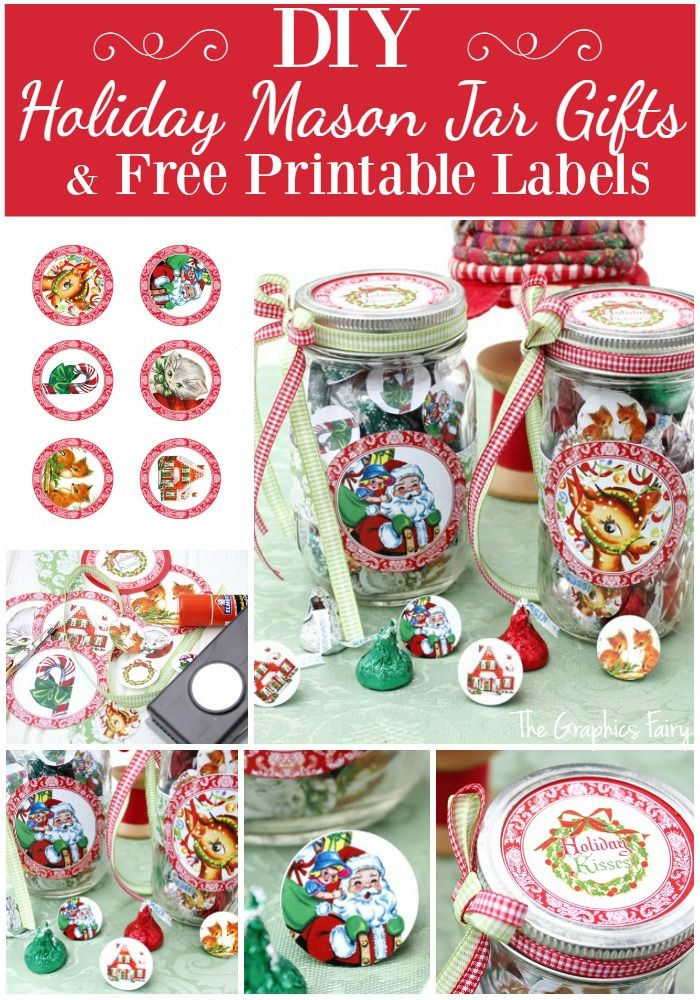 Printable Candy Jar Labels For The Holidays Tgf Christmas
