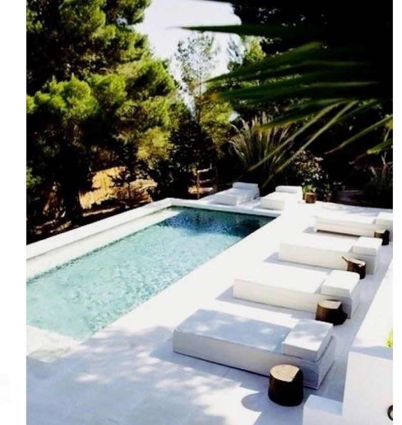 via @decorum_interior_design: Perfect pool oasis #interiordesign #architecture #architect #architecturelovers #decor #design #dezeen #decorao #interiordesigner #pool #terrace #terazza
