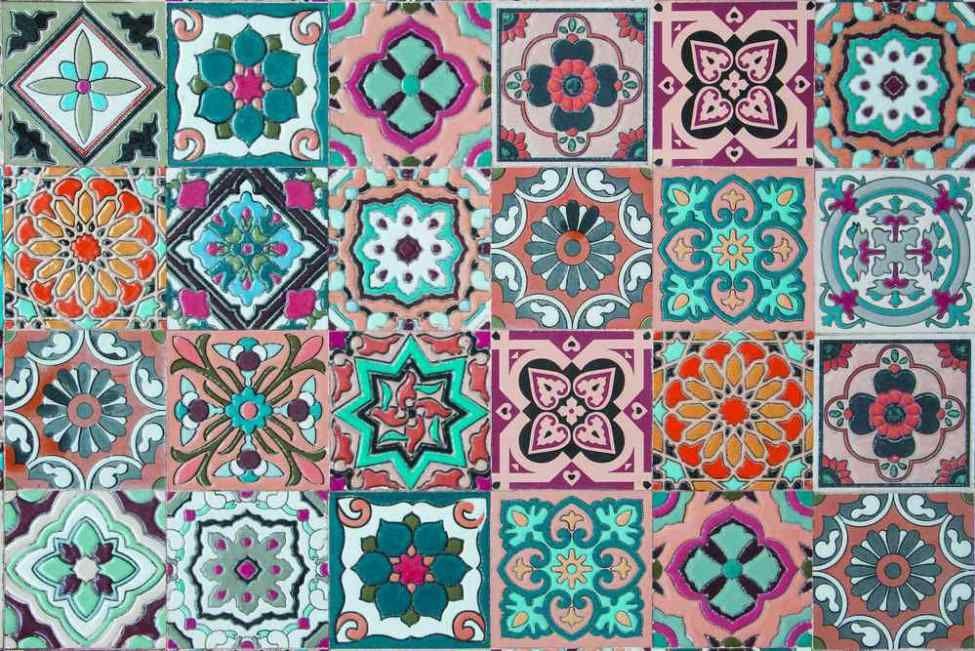 Vintage Ceramic Tile Patterns From Portugal