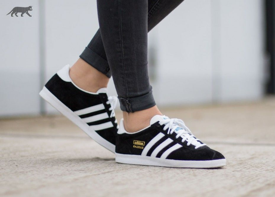 pretty nice 8500e 118cb adidas Gazelle OG (Black  White  Metallic Gold)