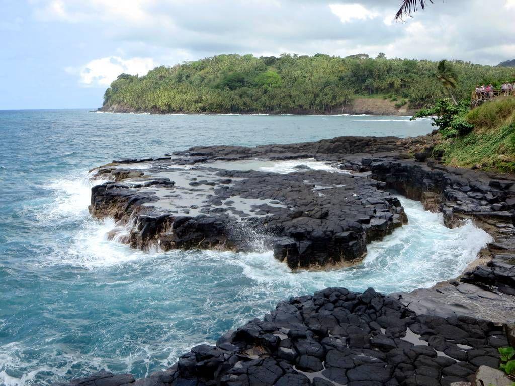 The Boca do Inferno is a natural blowhole on the east coast of Sao Tome Island, São Tomé and Príncipe.