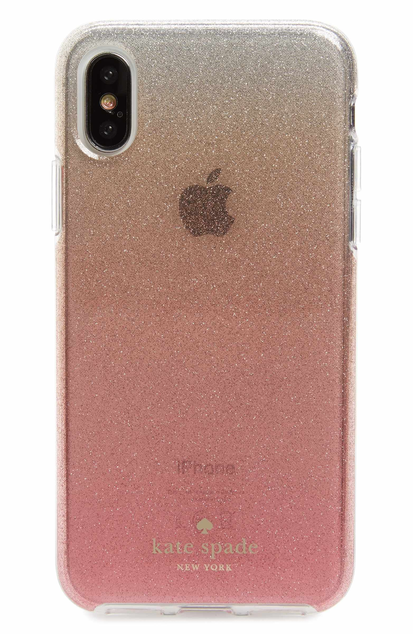 huge discount ca65b 88955 kate spade new york ombré glitter iPhone X case | Rose Gold Love ...