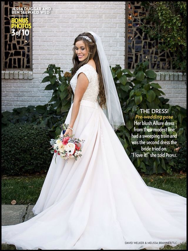 Another shot from jessas wedding source tumblr tv and for Jessa duggar wedding dress