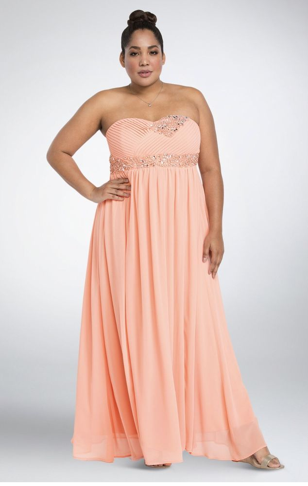 5d7f47f4c6 Torrid Bejeweled Rhinestone Chiffon Gown Formal Dress 16 LaceUp Corset  Peach Nwt  Torrid  BallGown  Formal