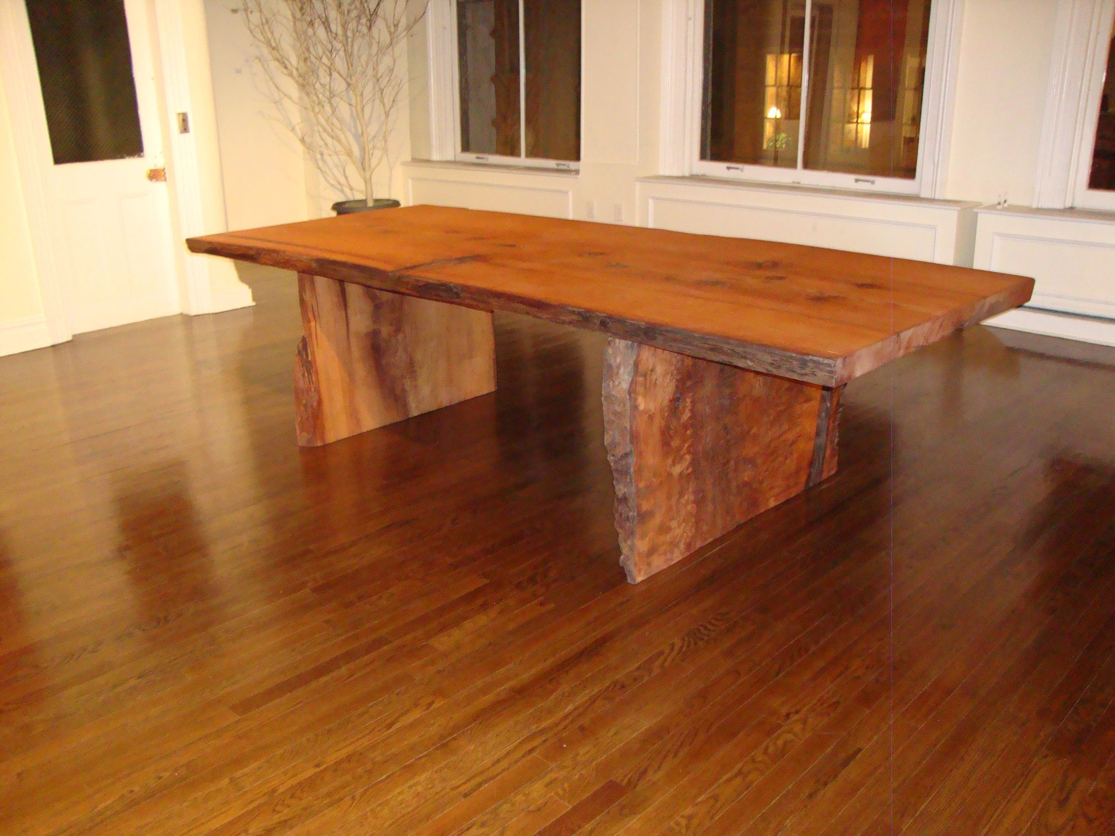 Table Solid Wood Reclaimed Wood Furniture Slab Table Natural Wood Furniture Rustic Table