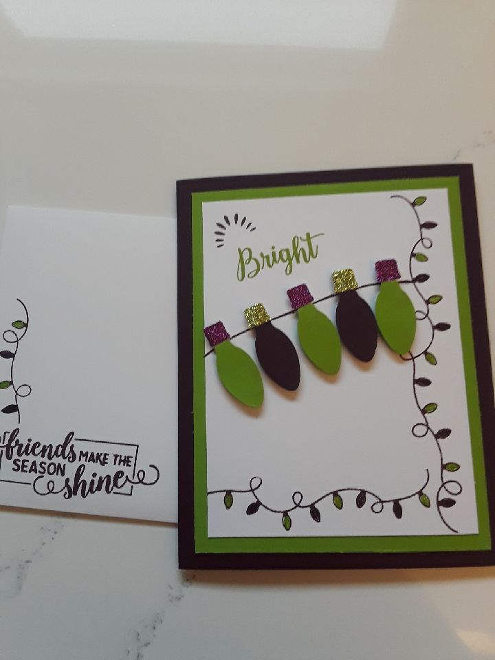 Stampin\' Up Making Christmas Bright. Granny Apple Green & Blackberry ...
