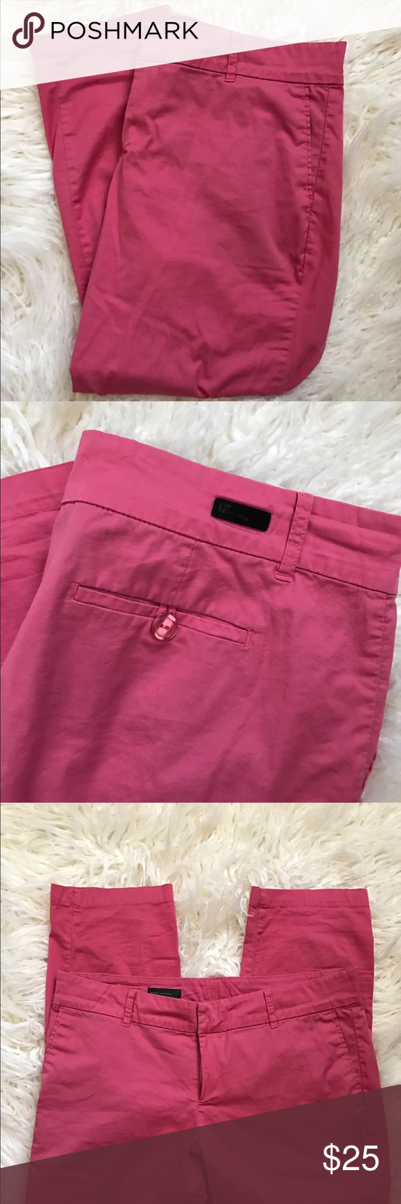 Kut from the Kloth Taylor Crop Trouser Pants Sz 14 Kut from the Kloth 'Taylor' Crop Pink Trouser. In good condition.  • Style#: KC330MA3SF • Cut# 104082 • 98% Cotton; 2% Spandex • Machine Wash Cold, Lay Flat to Dry Kut from the Kloth Pants Trousers