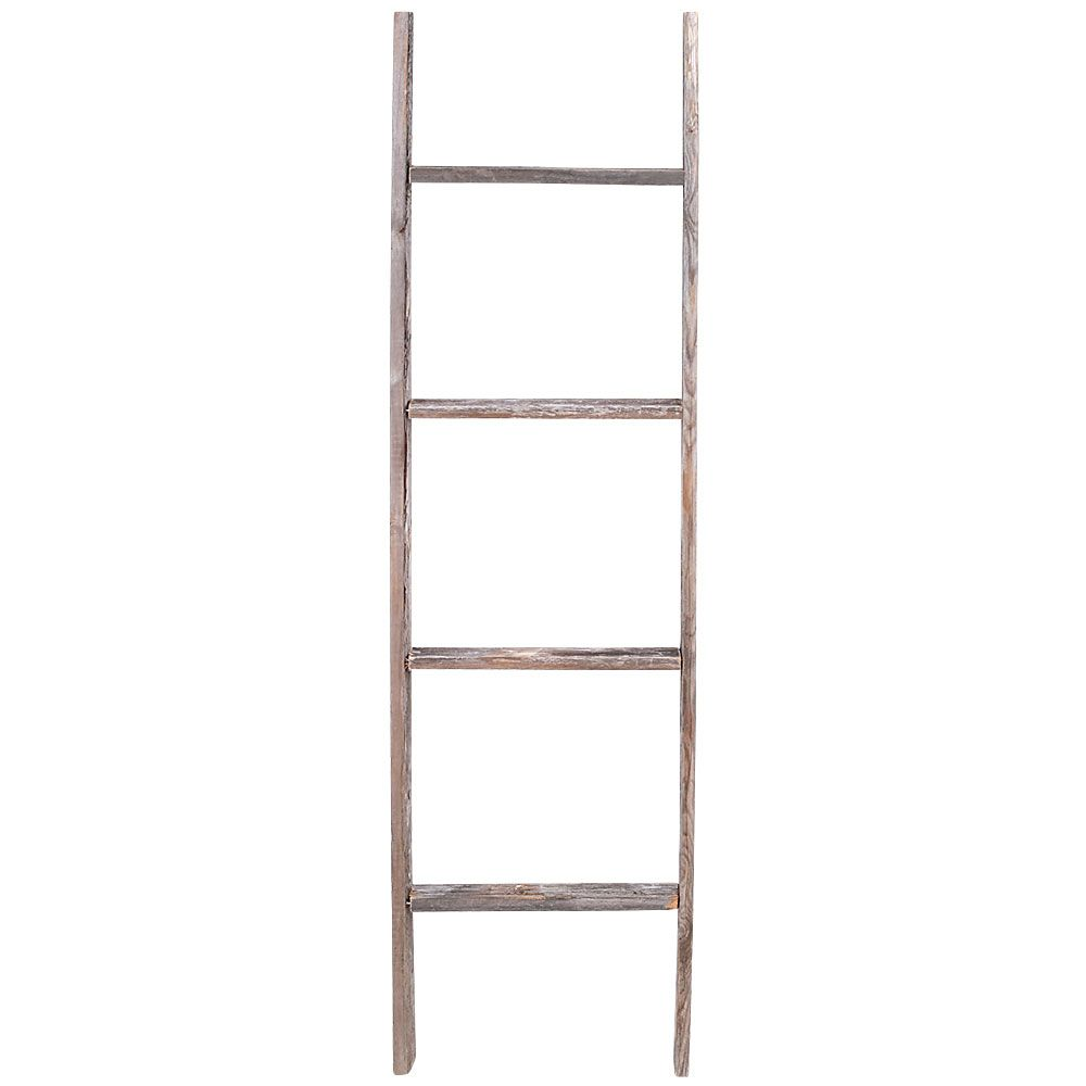 4 Ft Decorative Barn Wood Step Ladder By Rustic Reclaimed Walmart Com In 2020 Ladder Decor Rustic Ladder Wood Ladder