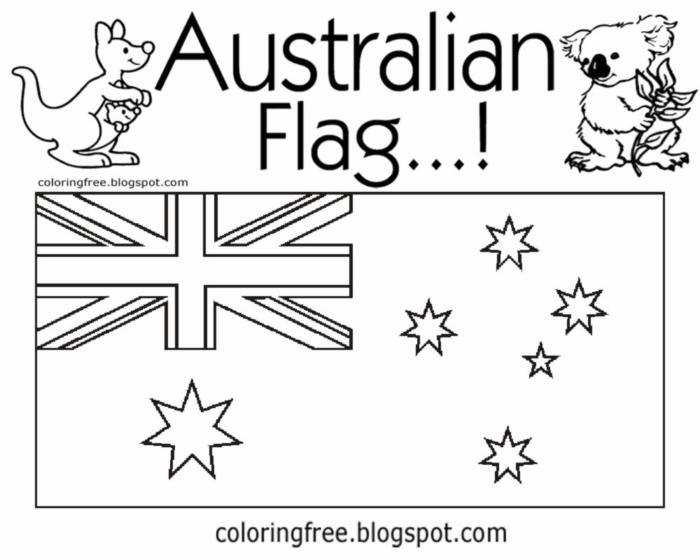 Australia Flag Coloring Sheet Lovely Free Coloring Pages Printable