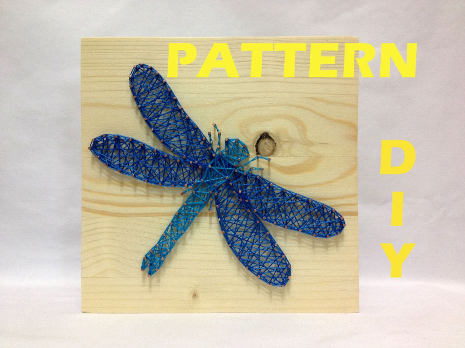 DIY String Art Pattern Dragonfly, Pattern and Instructions, How to ...