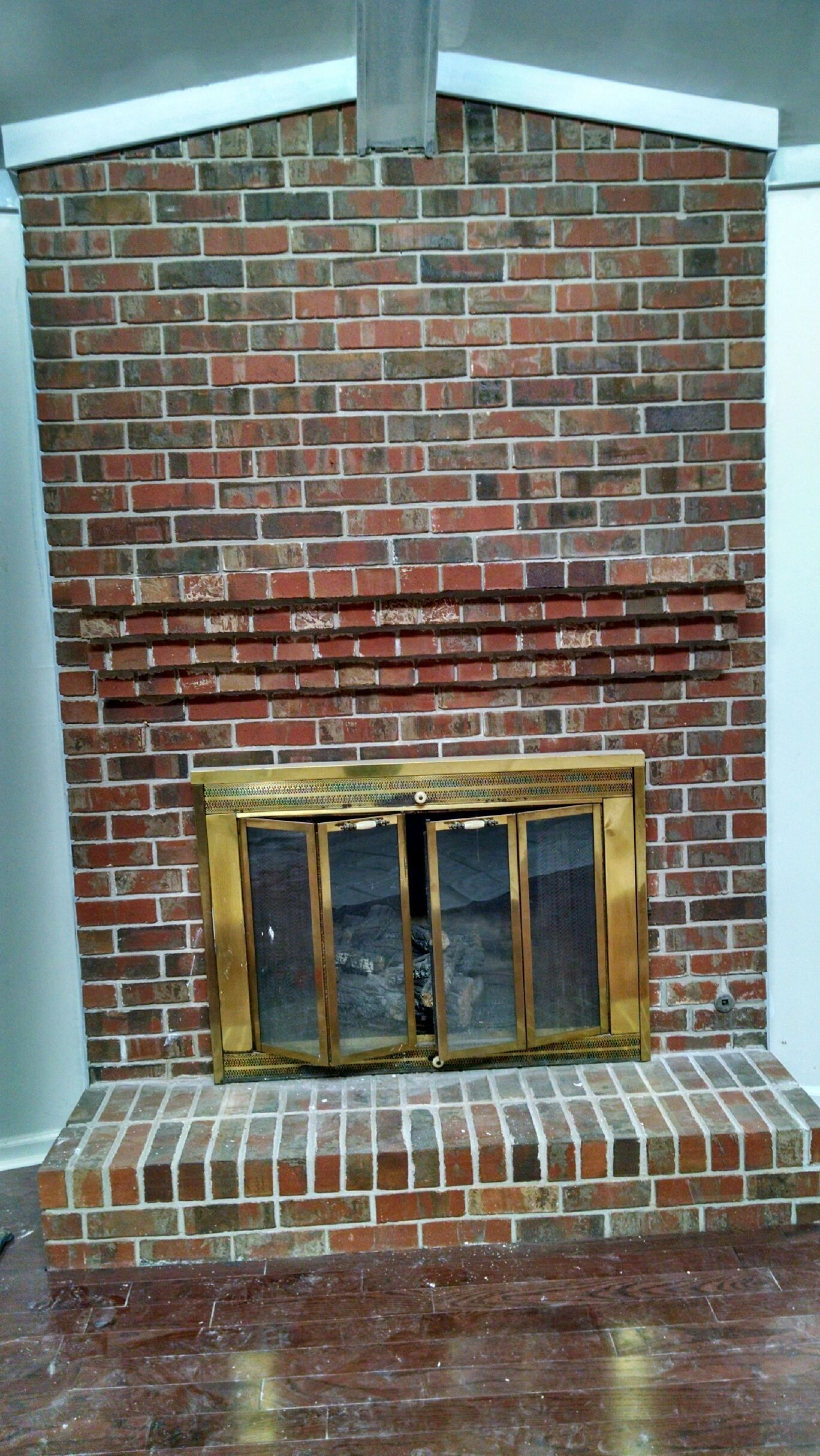 Brick Fireplace Makeover DIY Whitewashing Brick Projects for Me